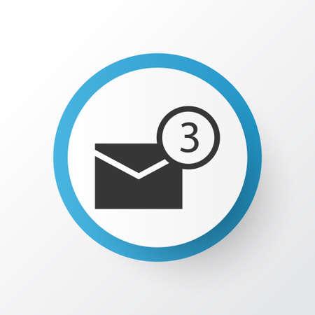 Notification Icon Symbol. Premium Quality Isolated Inbox Element In Trendy Style. Ilustrace