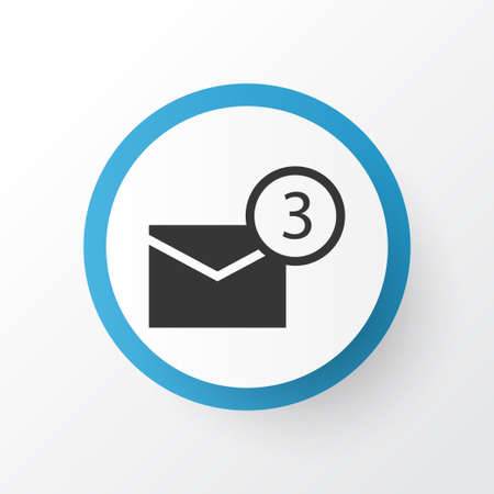 proclamation: Notification Icon Symbol. Premium Quality Isolated Inbox Element In Trendy Style. Illustration
