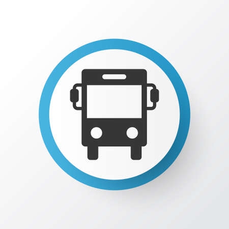 Premium Quality Isolated Transport Element In Trendy Style.  Bus Icon Symbol. Illustration