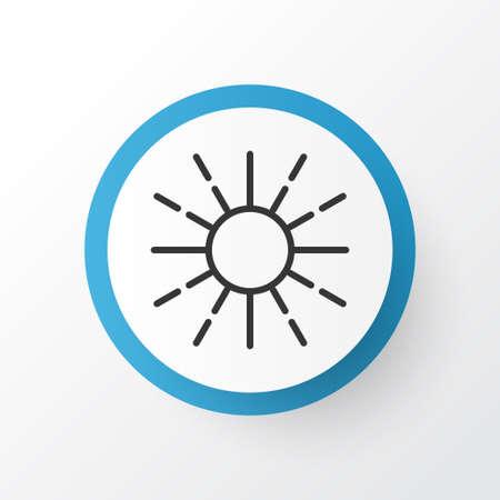 Elemento de luminosidad aislada de calidad superior en estilo moderno. Brillo regulación icono símbolo.