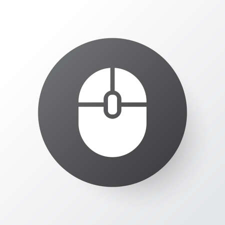 electronic music: Premium Quality Isolated Control Device Element In Trendy Style.  Computer Mouse Icon Symbol.