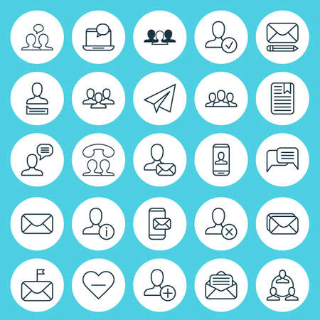 Communication Icons Set. Collection Of Teamwork, Note Page, Society And Other Elements