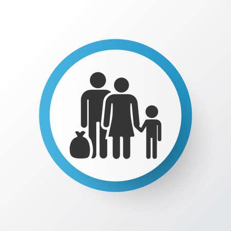 Refugee Icon Symbol. Premium Quality Isolated Fugitive Element In Trendy Style. Illustration