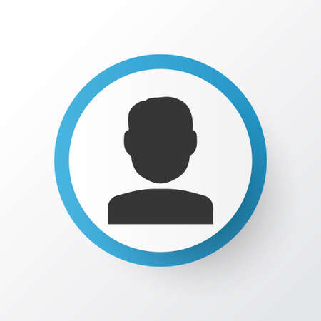 Premium Quality Isolated Quest  Element In Trendy Style.  User Icon Symbol.
