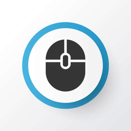 Computer Mouse Icon Symbol. Premium Quality Isolated Control Device Element In Trendy Style.