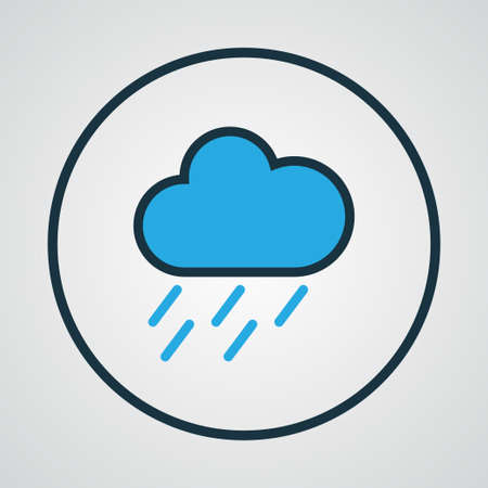 overcast: Nimbus Colorful Outline Symbol. Premium Quality Isolated Hazy Element In Trendy Style. Illustration