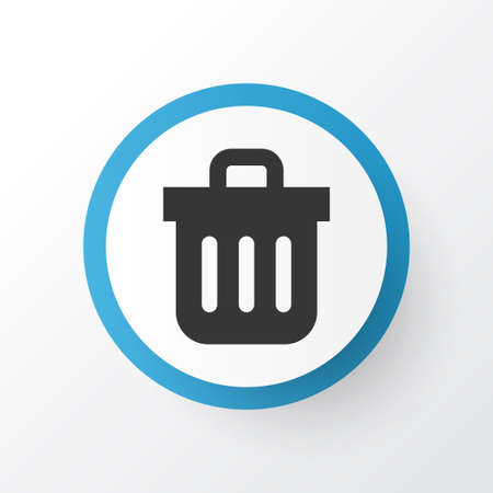 Premium Quality Isolated Recycle Bin    Element In Trendy Style.  Trash Can Icon Symbol.
