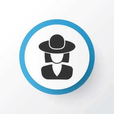 Elegant Headgear Icon Symbol. Premium Quality Isolated Hat Element In Trendy Style.