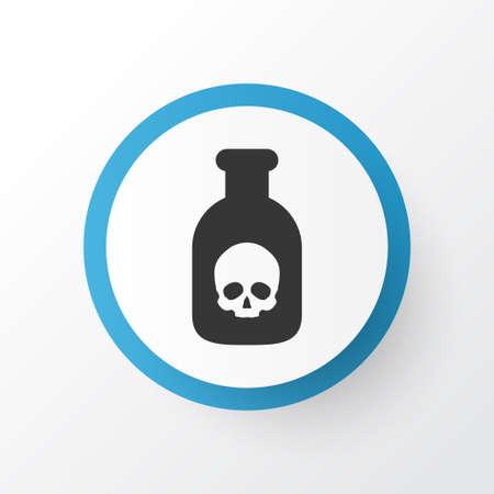 bane: Poison Icon Symbol. Premium Quality Isolated Danger Element In Trendy Style.
