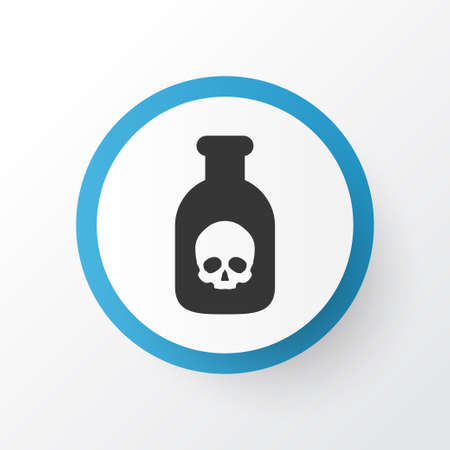 Poison Icon Symbol. Premium Quality Isolated Danger Element In Trendy Style.
