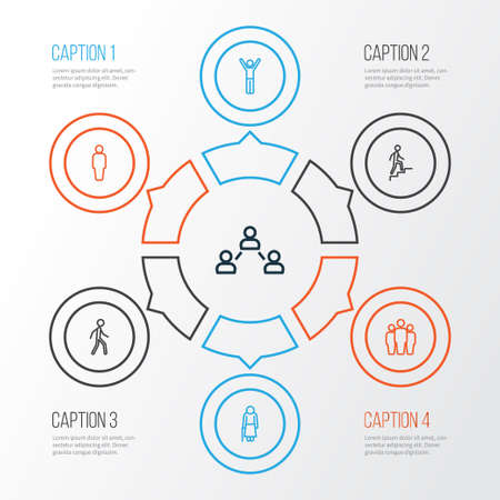Person Outline Icons Set. Collection Of Woman, Social Relations, User And Other Elements Illustration