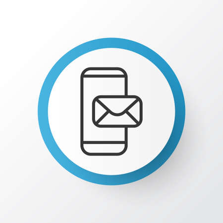 Mobile Mailing Icon Symbol Premium Quality Isolated Phone Messaging