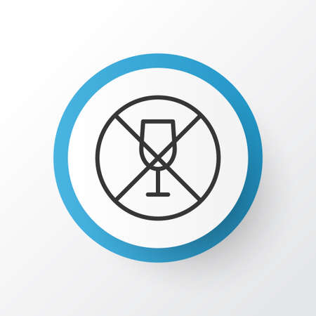 supper: No Drinking Icon Symbol. Premium Quality Isolated Alcohol Forbid Element In Trendy Style.