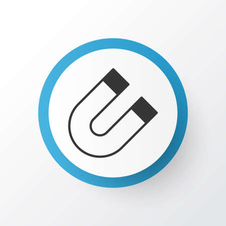Magnet Icon Symbol. Premium Quality Isolated Attraction Element In Trendy Style. Illustration