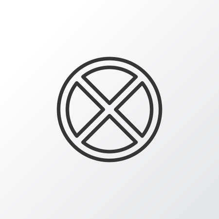 Cancel Icon Symbol. Premium Quality Isolated Exit Element In Trendy Style. Illustration