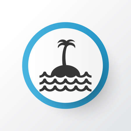 Island Icon Symbol. Premium Quality Isolated Reef Element In Trendy Style. Illustration