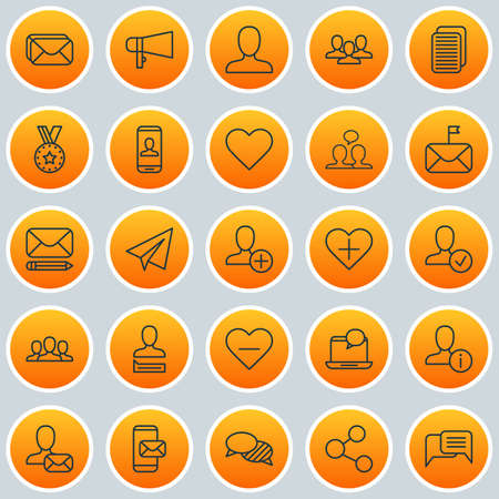 Communication Icons Set. Collection Of Publication, Add, Privacy Information And Other Elements. Also Includes Symbols Such As Heart, Paper, Delete.