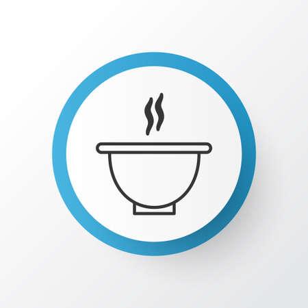 Soep Icon Symbool. Premium Kwaliteit Geïsoleerde Bowl Element In Trendy Style.