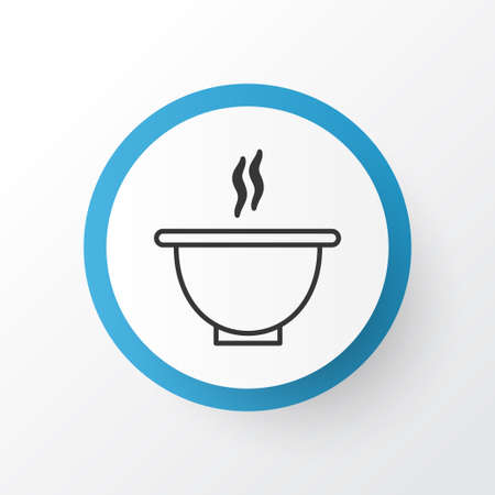 Soup Icon Symbol. Premium Quality Isolated Bowl Element In Trendy Style.