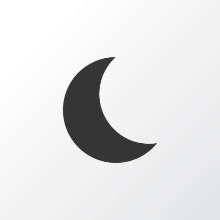 Night Icon Symbol. Premium Quality Isolated Moon Element In Trendy Style.