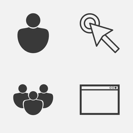 wap: Connection Icons Set. Collection Of Cursor, Program, User And Other Elements
