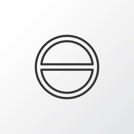 refuse: Premium Quality Isolated Refuse Element In Trendy Style.  Remove Icon Symbol.