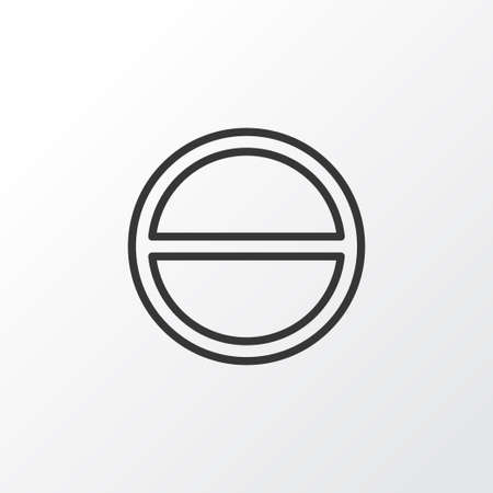 Premium Quality Isolated Refuse Element In Trendy Style.  Remove Icon Symbol.