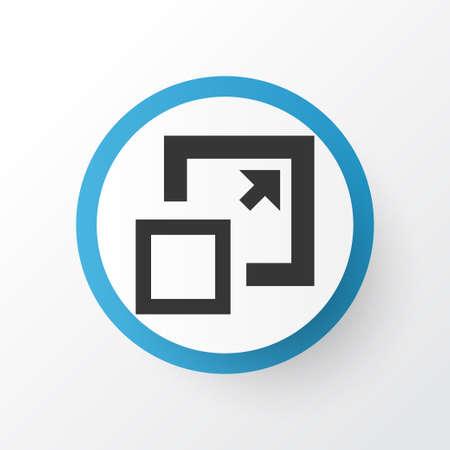 Premium Quality Isolated Maximize Element In Trendy Style.  Enlarge Icon Symbol.