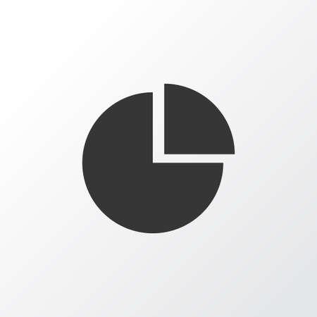 Diagrama ícone símbolo. Elemento de gráfico de pizza isolado de qualidade premium em estilo moderno Foto de archivo - 83284082