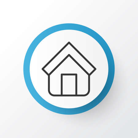 tabernacle: Premium Quality Isolated Estate Element In Trendy Style.  Home Icon Symbol. Illustration