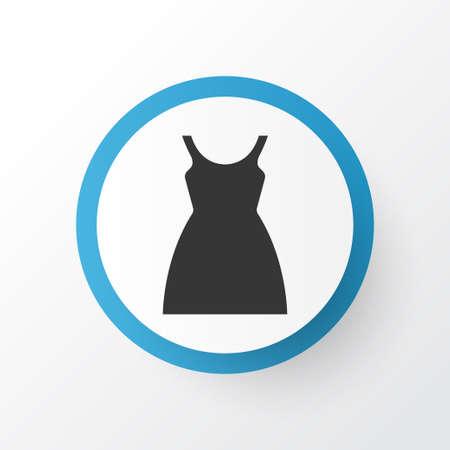 Premium Quality Isolated Dress Element In Trendy Style.  Sundress Icon Symbol.
