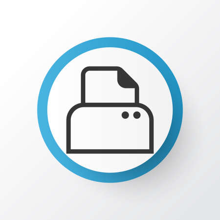 Paper Printer Icon Symbol. Premium Quality Isolated File Scanner Element In Trendy Style.
