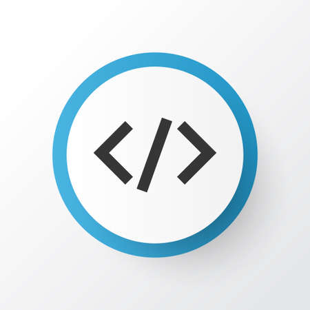 Premium Quality Isolated Tag Element In Trendy Style.  Code Icon Symbol. Illustration