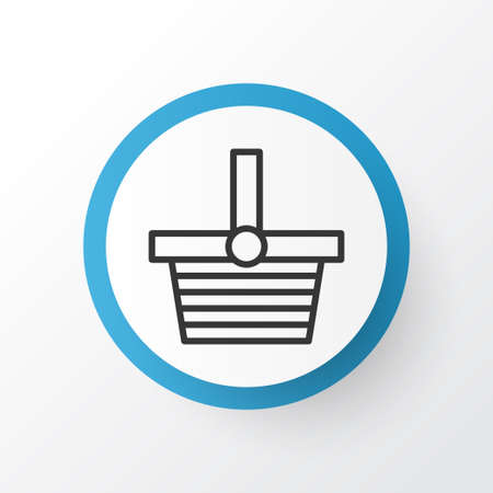 Premium Quality Isolated Pannier Element In Trendy Style.  Shopping Basket Icon Symbol.
