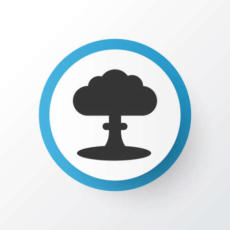 Premium Quality Isolated Atom Element In Trendy Style.  Nuclear Explosion Icon Symbol.