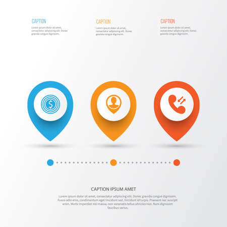 Management Icons Set. Collection Of Call, Location, Goal And Other Elements. Illustration