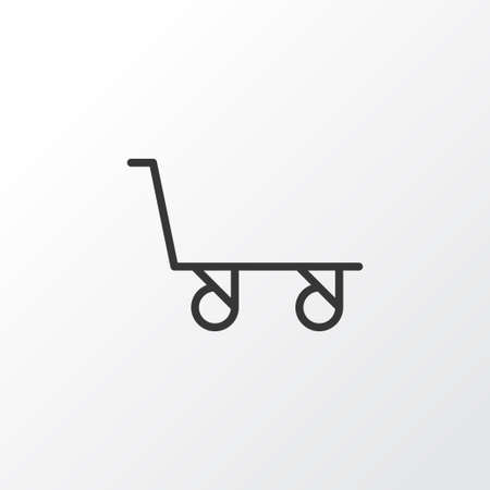 luggage carrier: Premium Quality Isolated Cargo Cart Element In Trendy Style.  Trolley Icon Symbol.