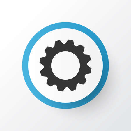 Premium Quality Isolated Gear Element In Trendy Style.  Setting Icon Symbol.