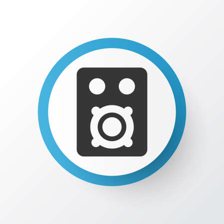 Premium Quality Isolated Speaker Element In Trendy Style.  Amplifier Icon Symbol.