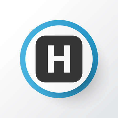 Premium Quality Isolated Hospital Element In Trendy Style.  Infirmary Icon Symbol. Illustration