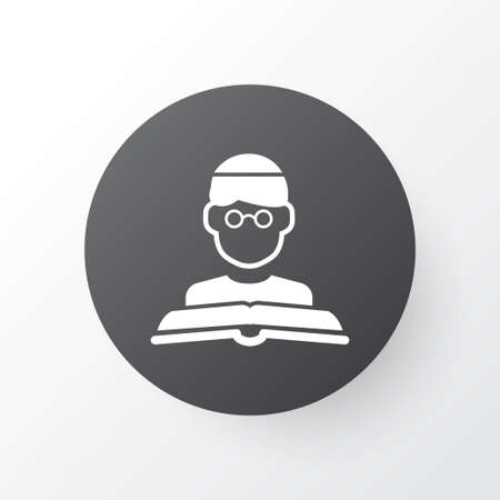 Premium Quality Isolated Person  Element In Trendy Style.  Imam Icon Symbol.