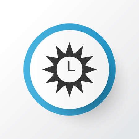 Premium Quality Isolated Clock  Element In Trendy Style.  Azan Icon Symbol. Illustration
