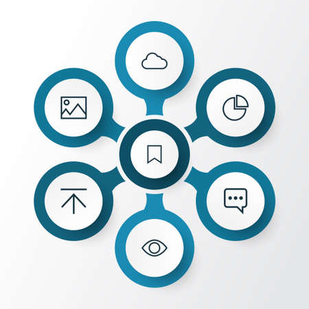 Interface Outline Icons Set. Collection Of Chatting, Bookmark, Cloud And Other Elements