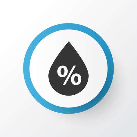 rainy season: Premium Quality Isolated Moisture Element In Trendy Style.  Humidity Icon Symbol.  Illustration