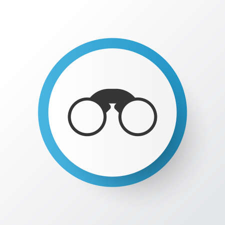 Premium Quality Isolated Pair Of Glasses Element In Trendy Style.  Field Glasses Icon Symbol.