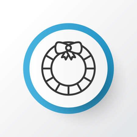 Door Decoration Icon Symbol. Premium Quality Isolated Garland  Element In Trendy Style. Ilustracja