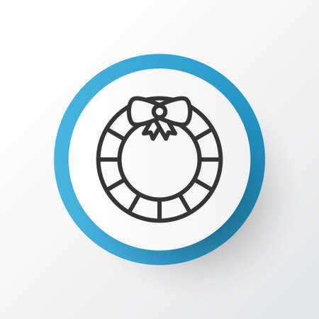 Door Decoration Icon Symbol. Premium Quality Isolated Garland  Element In Trendy Style. Illustration