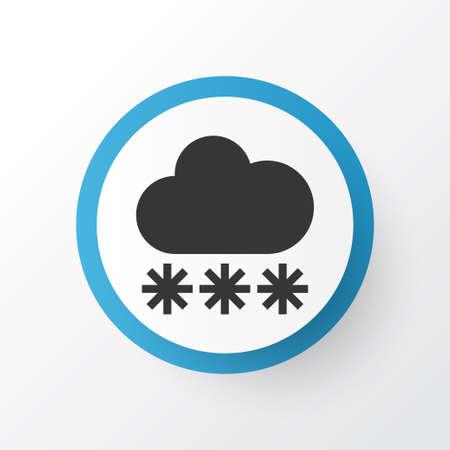 Premium Quality Isolated Snowy Element In Trendy Style.  Snow Icon Symbol.