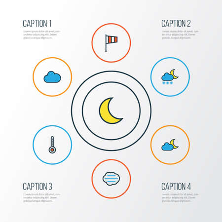 Climate Colorful Outline Icons Set. Collection Of Freeze, Scale, Tempest And Other Elements