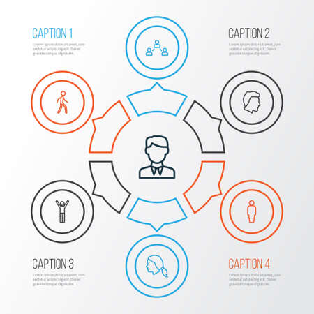 People Outline Icons Set. Collection Of Social Relations, Male, Head And Other Elements